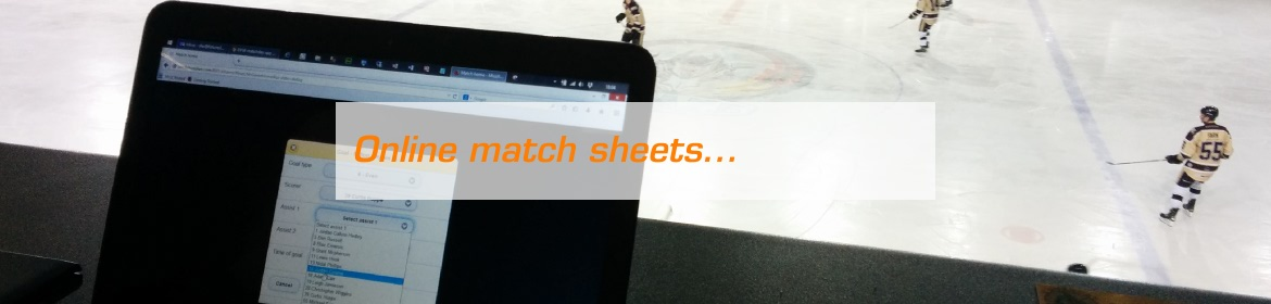 Online match sheets